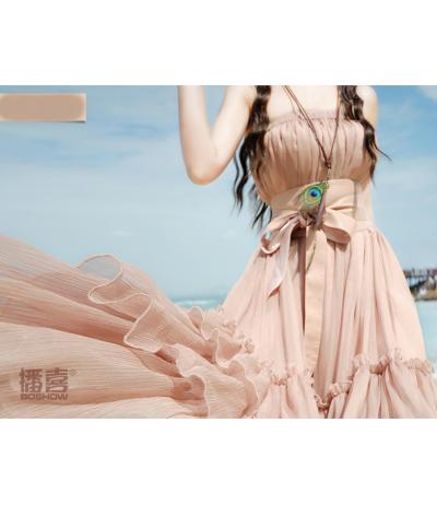 ceinture beige rosé large en faux cuir et satin Création Boshow TU