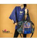 Wonderful embroidery fabric shoulder bag blue tassels & Ethnic Creation Miya
