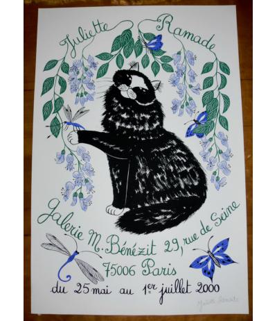 Affiche en Sérigraphie signée Paris 2000