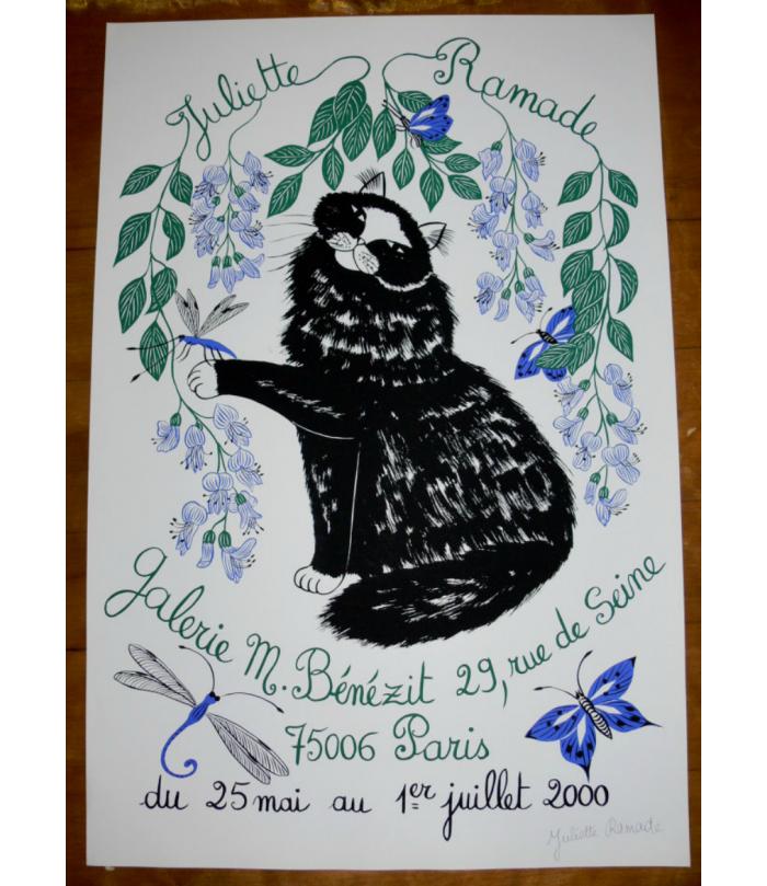 Poster in signed Silk Screen printing Paris 2000
