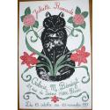 Original cat poster Juliette Ramade Paris 1997