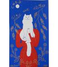 """Original Silk screen """"Paix aux étoiles"""" signed Juliette Ramade 1987"""