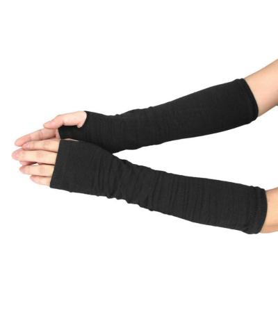 Superbes mitaines longs gants noirs de 29 cm en lainage