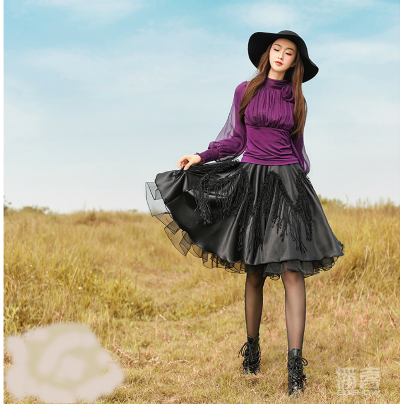 d8d7c5d7f81b Beautiful short skirts on chocolate and black Boshow creation Free Size