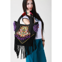 Bag Ethnic Embroidered flower tassels and links Designer Guduo Folk Rock