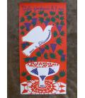 Original Silk screen Poster signed Juliette Ramade Peace 1983
