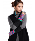 beautiful embroidered long mitten gloves jewel hand Ethnic